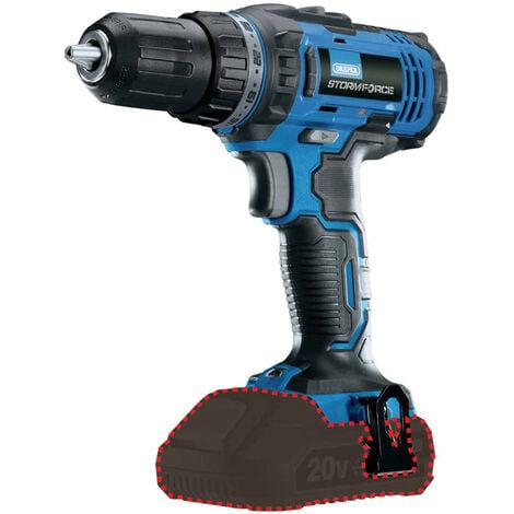"""Draper Tools Drill Driver """"Storm Force"""" Bare 20V 35Nm"""