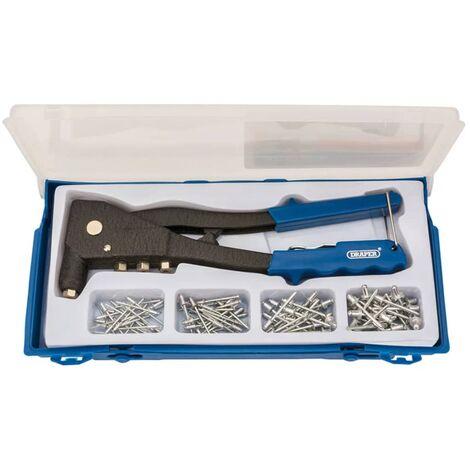Draper Tools Ensemble de riveteuse Bleu 27843