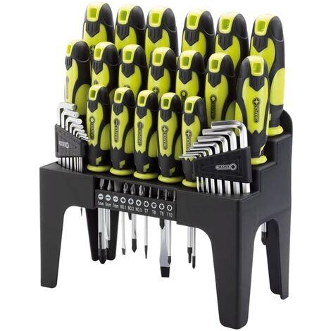 Draper Tools Ensemble de tournevis, clé hex et embout 44pcs Vert 78619