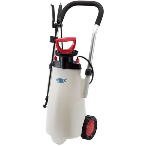 Draper Tools Expert Trolly Pump Sprayer 15 L Red 82583