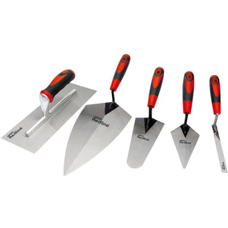 Draper Tools Five Piece Trowel Set Carbon Steel 69153