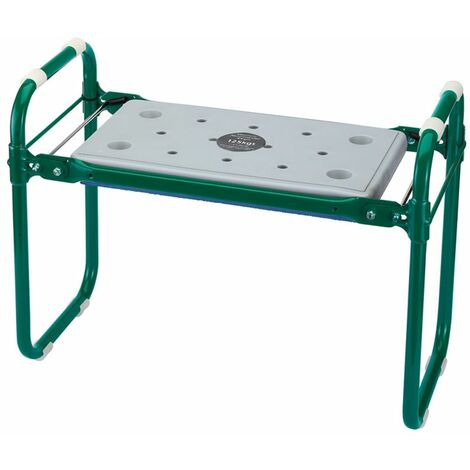 Draper Tools Folding Garden Seat/Kneeler Iron Green 64970