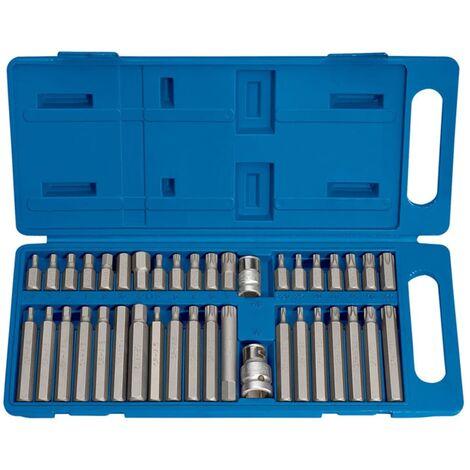 Draper Tools Jeu d'embout hexagonal, Torx et cannelé 40 pièces TX-STAR 33323