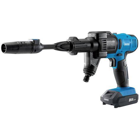 Draper Tools Kit de limpiadora a presión con batería D20 2 Ah - Azul