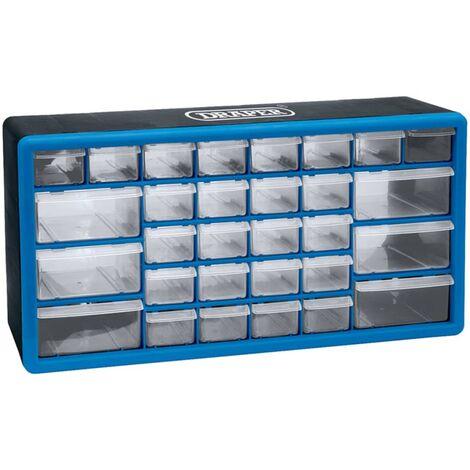 Draper Tools Organisateur d'outils 30 tiroirs Bleu 12015