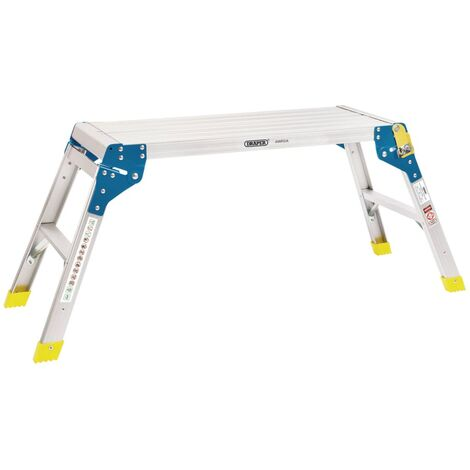 Draper Tools Plateforme de travail en aluminium 2 marches 80x30x48 cm