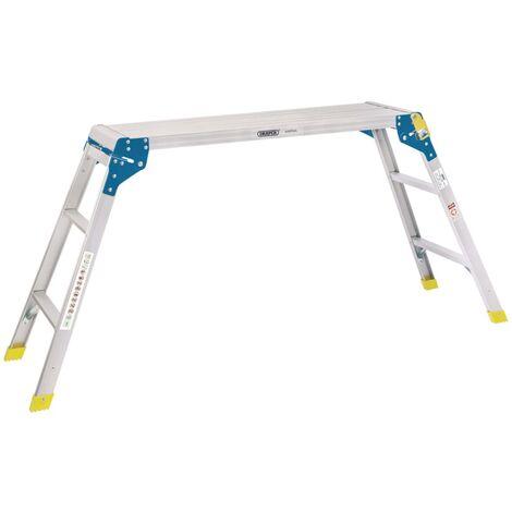 Draper Tools Plateforme de travail en aluminium 3 marches 100x30x73 cm