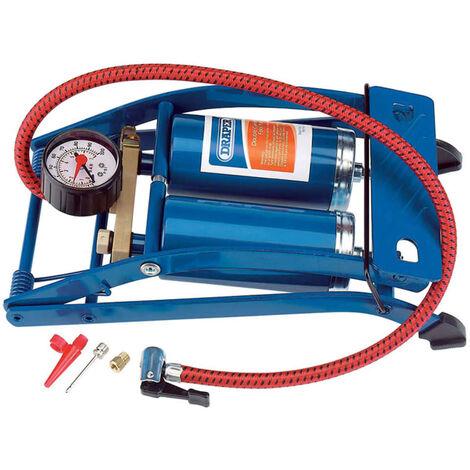 Draper Tools Pompe à pied double cylindre Bleu 25996