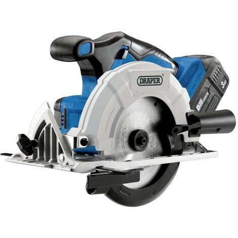 Draper Tools Scie circulaire sans balais avec 1 batterie 3Ah D20 20V