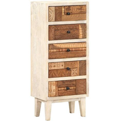 Drawer Cabinet 45x30x105 cm Solid Reclaimed Wood