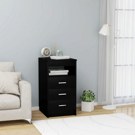 Drawer Cabinet Black 40x50x76 cm Chipboard