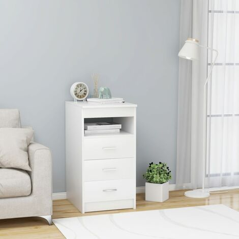 Drawer Cabinet White 40x50x76 cm Chipboard