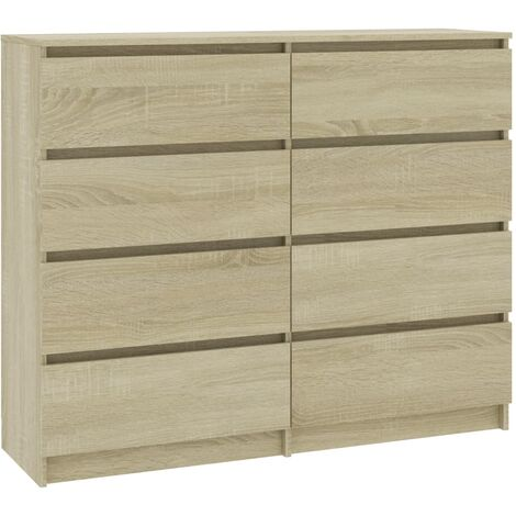 Drawer Sideboard Sonoma Oak 120x35x99 cm Chipboard