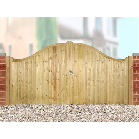 Drayton Low Shaped Driveway Double Gate 300cm Wide x 125cm High