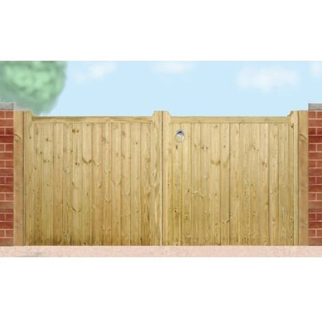 Drayton Low Square Top Driveway Double Gate 360cm Wide x 95cm High