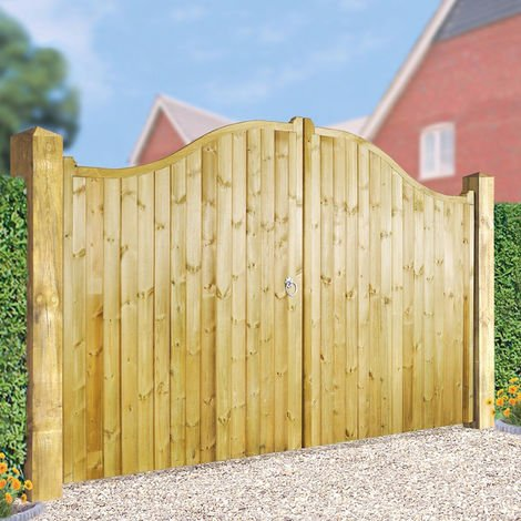 Drayton Tall Shaped Driveway Double Gate 300cm Wide x 180cm High
