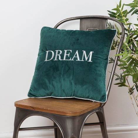 Dream Velvet Cushion Dark Green 42cm