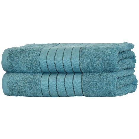 Set di 2 asciugamani in cotone Pima Pinzon avorio