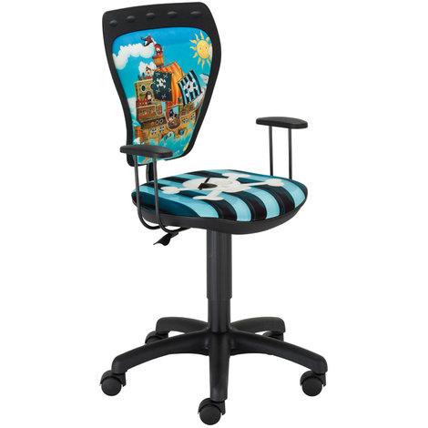 Drehstuhl Pirat Schreibtischstuhl Kinderzimmer Kinder Jungen Ministyle Piraten mit Armlehnen