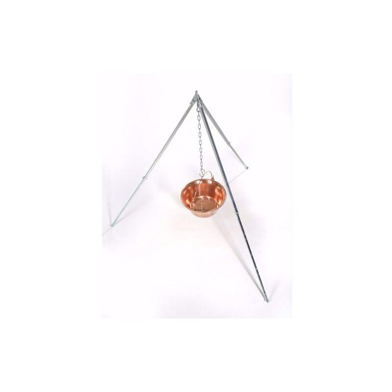 Dreibein 1,70m Kupferkessel 22L