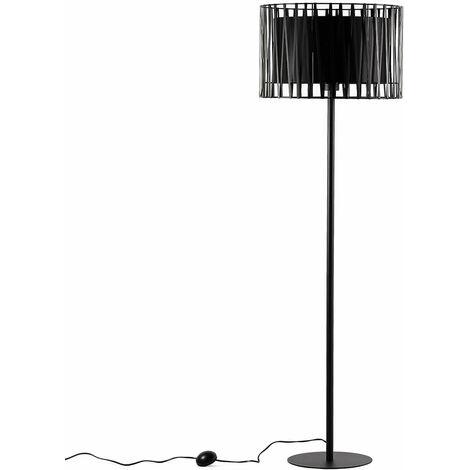 Dreibein Stehlampe Schwarz Wohnzimmer145cm klein MINA
