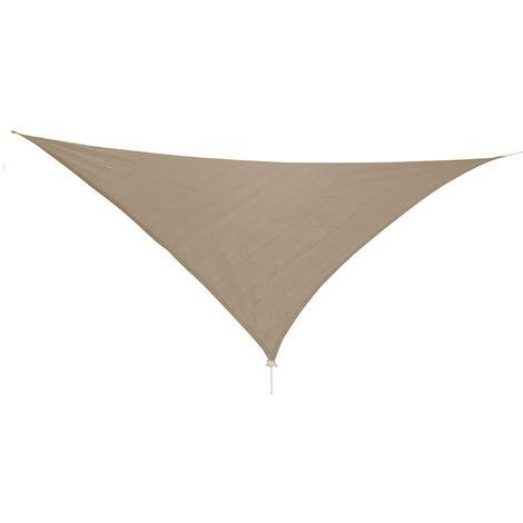 Dreieck Sonnensegel 3,6x3,6x3,6m Taupe mit Ösen+Nylonschnüren-MMC2018-Taupe