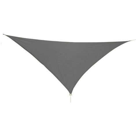 Dreieck Sonnensegel 3x3x3m anthrazit mit Ösen+Nylonschnüren-MMC2017-Anthrazit