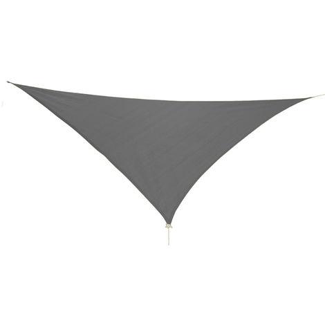 Dreieck Sonnensegel 5x5x5m anthrazit mit Ösen+Nylonschnüren-MMC2021-anthrazit