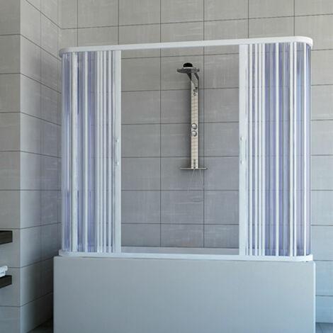 Dreiseitige PVC Faltwand Badewanne-Kabine mit zentraler Öffnung Mod. Nicla