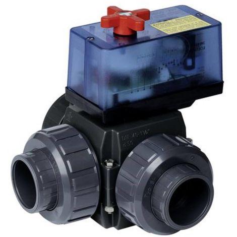 Dreiwege-Motor Kugelhahn PVC 50mm mit elekt. Stellmotor 23187951