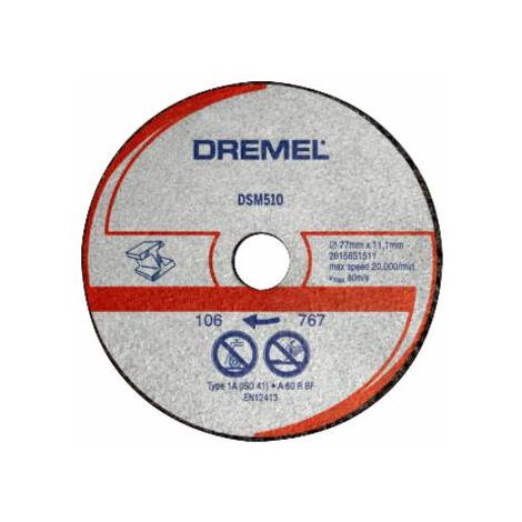 Dremel 2615S510JA DSM510 Saw-Max Metal Cutting Wheel 3 Pack