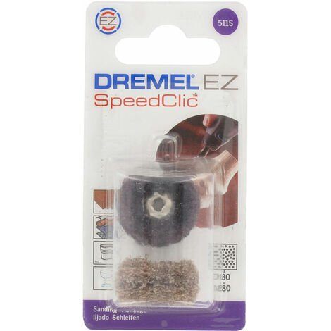 Dremel 2615S511JA 511S EZ SpeedClic Abrasive Buffs Coarse And Medium - Pack Of 2