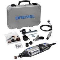 DREMEL 4000 175W Avec 65 Accessoires + 4 Adaptations en Coffret - F013 4000 JP