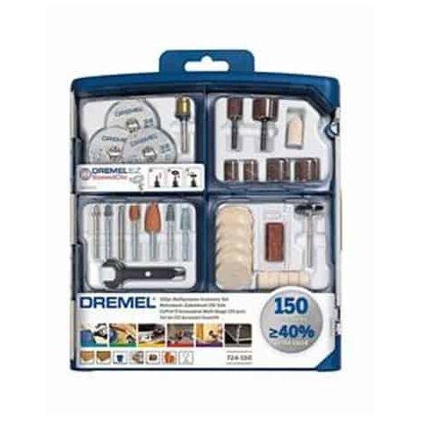 DREMEL Coffret 150 accessoires EZ SpeedClic - 724 - 2615S724JA