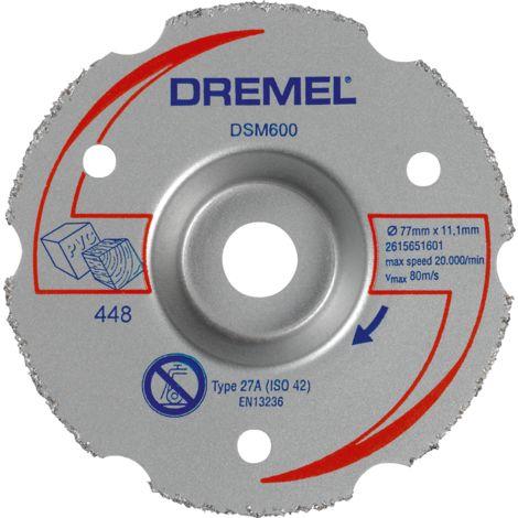 Dremel Disque à tronçonner multi-usage en carbure « spécial découpe à ras », pour DREMEL® DSM20