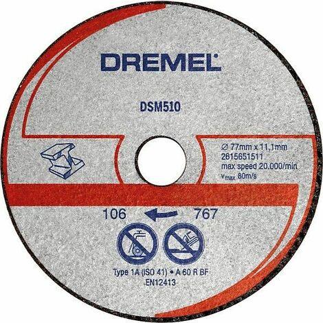 Dremel Disque à tronçonner pour métal et plastique, pour DSM20 (DSM510) - 2615S510JB