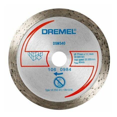 Dremel DSM540 Disque à tronçonner diamanté Carrelage/Faïence 77 mm Import Allemagne