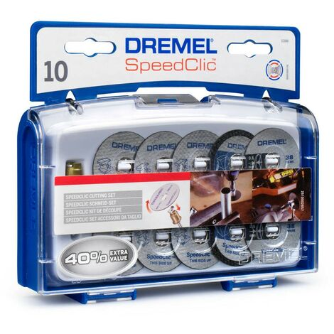 Dremel 2615S690JA Set de discos de corte SpeedClic 11 Accesorios Estuche
