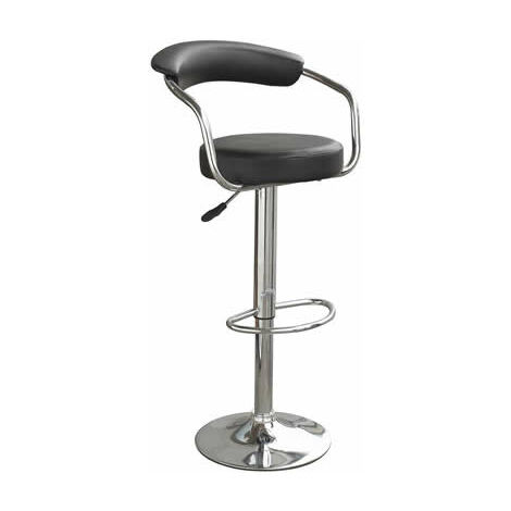 Drenzy Height Adjustable Kitchen Breakfast Bar Stool Chrome Base With Back