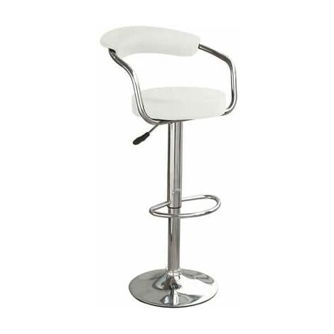 """main image of """"Drenzy White Bar Stool Arms Height Adjustable"""""""
