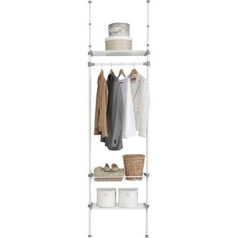 Dressing 2 étagères et panier Métal-ABS-polypropylène