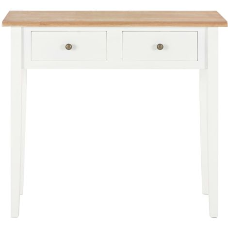 Dressing Console Table White 79x30x74 cm Wood