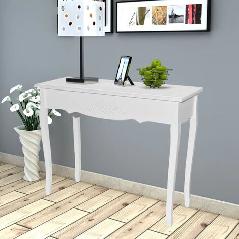 Dressing Console Table White - White