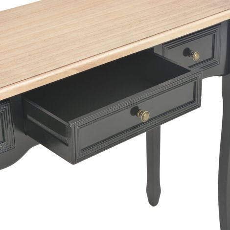 Dressing Console Table with 3 Drawers Black