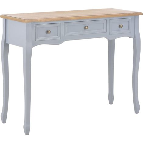 Dressing Console Table with 3 Drawers Grey