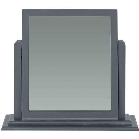 "main image of ""Dressing Mirror Table Adjustable Vanity Makeup Desk Mirror Dark Carbon Finish"""