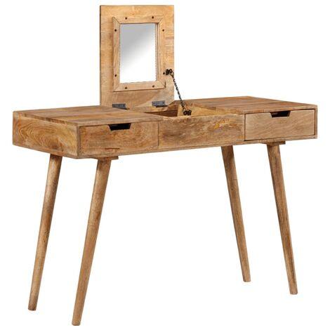 Dressing Table 112x45x76 cm Solid Mango Wood