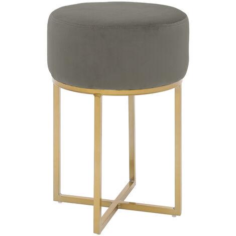 Dressing Table Chair Round Vanity Bedroom Velvet Stool Pouffe Metal Golden Leg