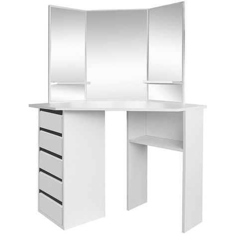 Dressing table Cosmetic table Commode Make-up mirror white Table Corner