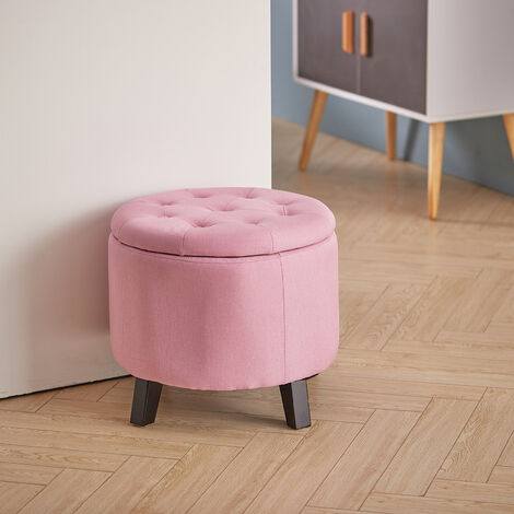 Dressing Table Stool Storage Footstool Ottoman Footrest Makeup Box Bedroom Chair